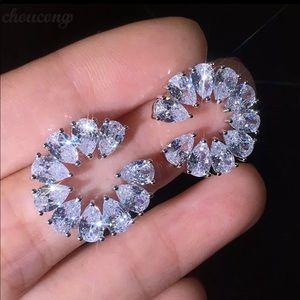 Alphabet C Stimulated Diamond Earring